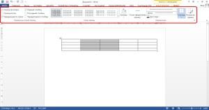"""Меню закладки """"Конструктор"""" для редактирования таблиц в Ворде"""