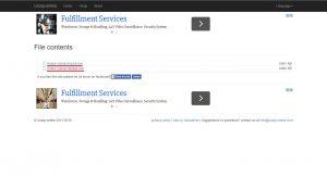 Результат распаковки архива на unzip-online.com