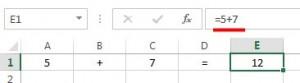 Формула сложения значений без адресов ячеек